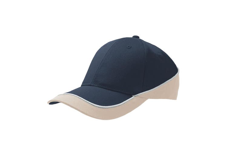 Atlantis Racing Teamwear 6 Panel Cap (Navy/Khaki) (One Size)