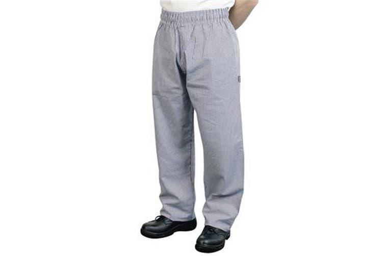 BonChef Check Baggy Mens Chef Trousers (Black/White) (L)