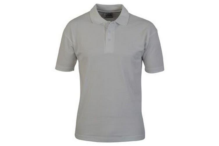 Casual Classic Mens Pique Polo (White) (XL)