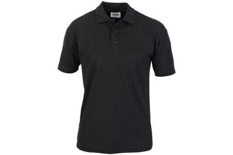 Casual Classic Mens Pique Polo (Black) (XL)