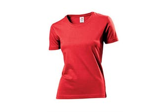 Stedman Womens/Ladies Comfort Tee (Scarlet Red) (XL)