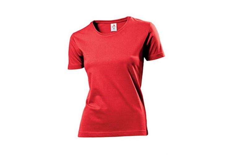 Stedman Womens/Ladies Comfort Tee (Scarlet Red) (2XL)