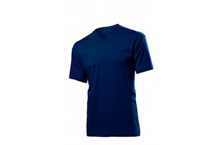 Stedman Mens Classic V Neck Tee (Blue Midnight) (M)