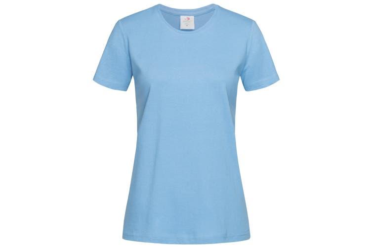 Stedman Womens/Ladies Classic Tee (Light Blue) (L)