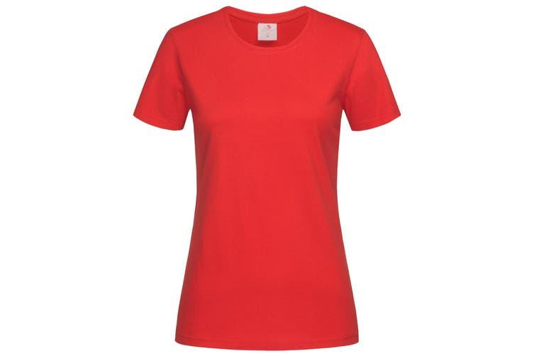 Stedman Womens/Ladies Classic Tee (Scarlet Red) (XL)