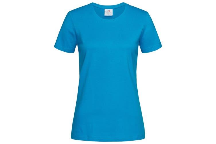 Stedman Womens/Ladies Classic Tee (Ocean Blue) (XL)