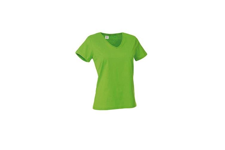 Stedman Womens/Ladies Classic V Neck Tee (Kiwi Green) (M)