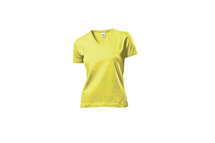 Stedman Womens/Ladies Classic V Neck Tee (Yellow) (S)