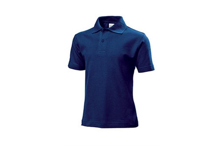 Stedman Childrens/Kids Cotton Polo (Navy) (M)