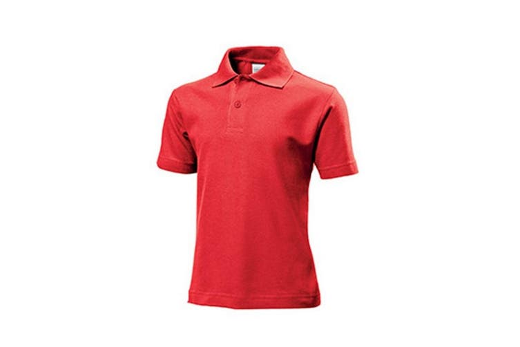 Stedman Childrens/Kids Cotton Polo (Scarlet Red) (L)