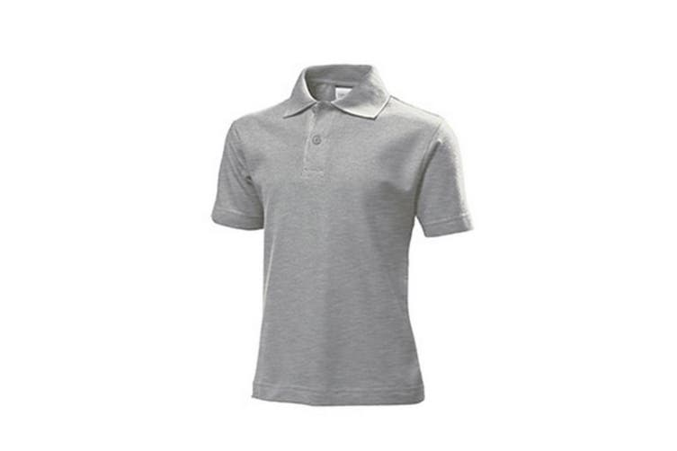 Stedman Childrens/Kids Cotton Polo (Heather Grey) (M)