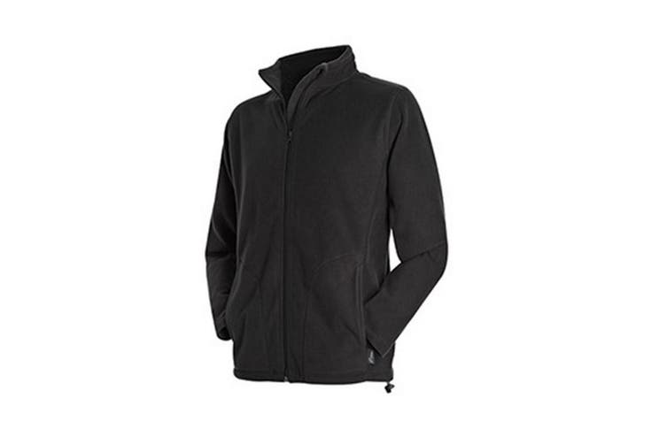 Stedman Mens Active Full Zip Fleece (Black Opal) (M)