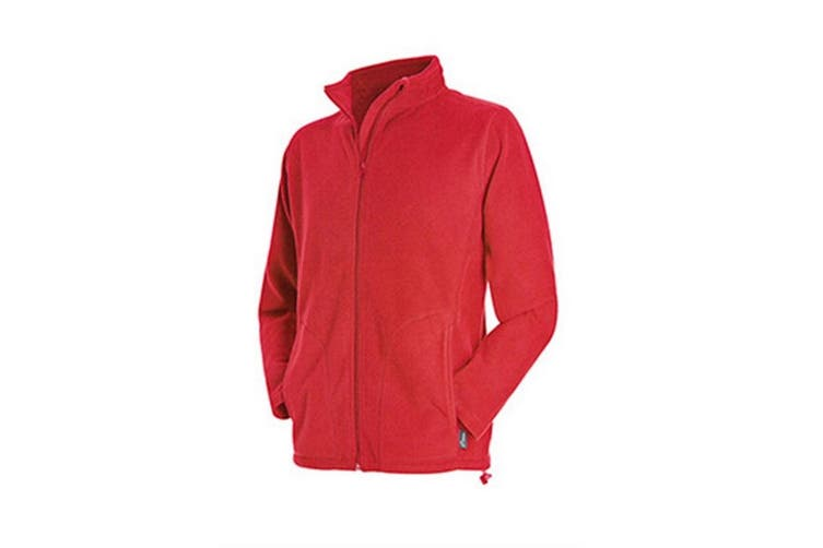 Stedman Mens Active Full Zip Fleece (Scarlet Red) (2XL)