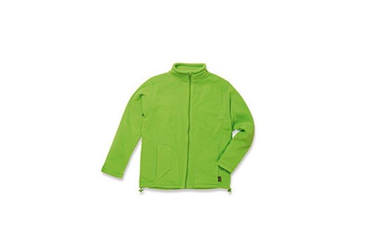 Stedman Mens Active Full Zip Fleece (Kiwi Green) (S)