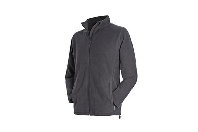 Stedman Mens Active Full Zip Fleece (Grey Steel) (2XL)