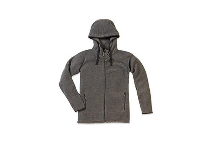 Stedman Mens Active Power Fleece Jacket (Anthra Heather Grey) (2XL)
