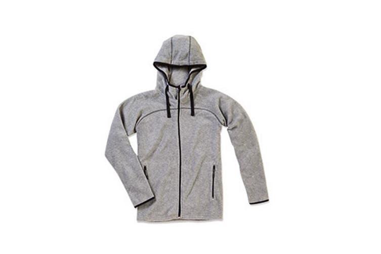 Stedman Mens Active Power Fleece Jacket (Heather Grey) (2XL)
