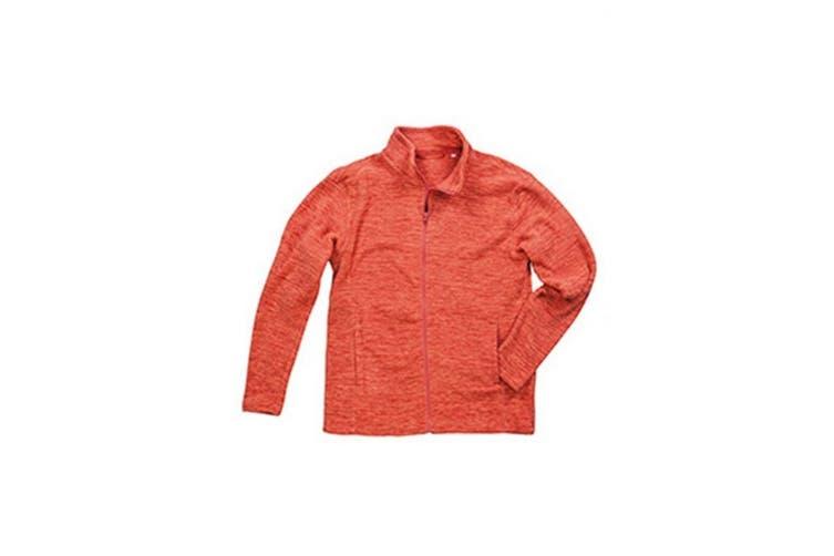 Stedman Mens Active Melange Fleece Jacket (Pumpkin Melange) (2XL)