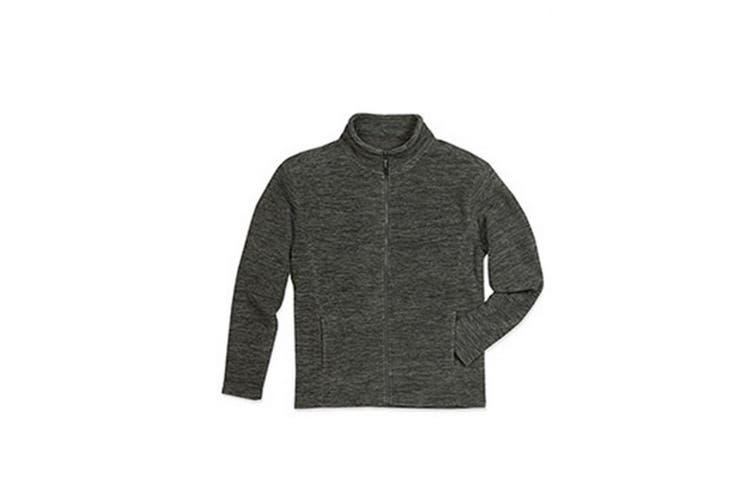 Stedman Mens Active Melange Fleece Jacket (Anthra Melange) (2XL)