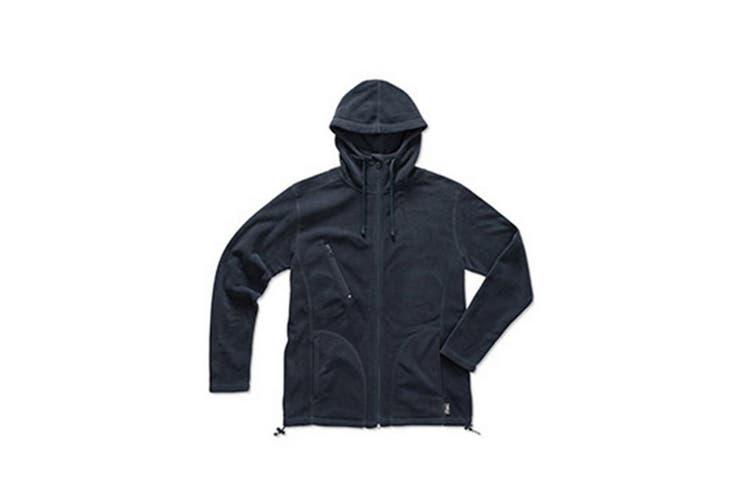Stedman Mens Active Hooded Fleece Jacket (Blue Midnight) (XL)