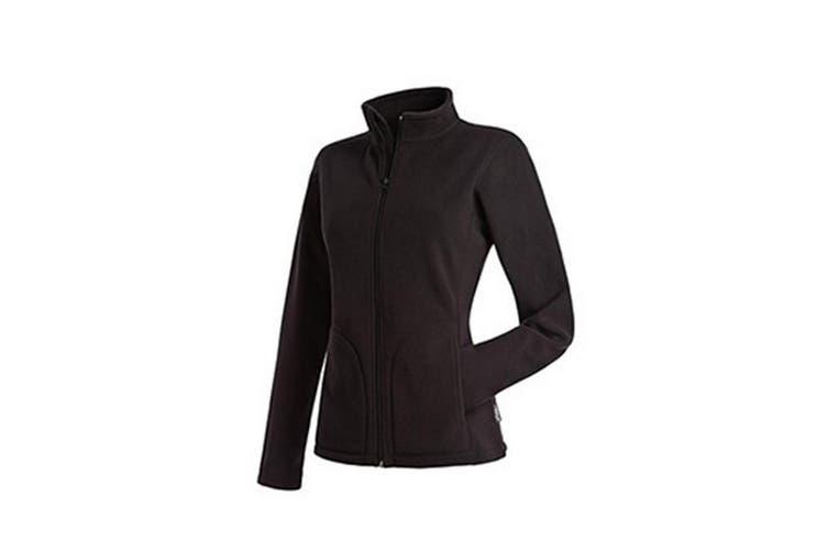 Stedman Womens/Ladies Active FZ Fleece (Black Opal) (XL)