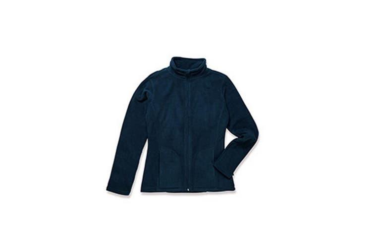 Stedman Womens/Ladies Active FZ Fleece (Blue Midnight) (S)
