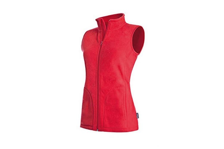 Stedman Womens/Ladies Active Fleece Gilet (Scarlet Red) (L)