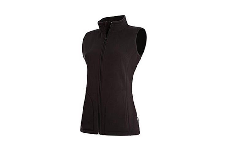 Stedman Womens/Ladies Active Fleece Gilet (Black Opal) (XL)