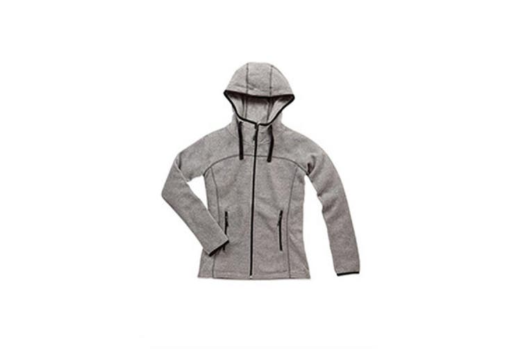 Stedman Womens/Ladies Active Power Fleece Jacket (Heather Grey) (S)