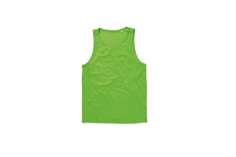Stedman Mens Active Poly Sports Vest (Kiwi Green) (2XL)