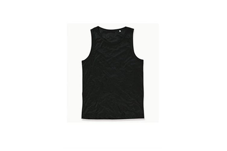 Stedman Mens Active Poly Sports Vest (Black Opal) (M)