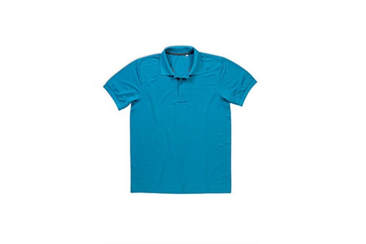 Stedman Mens Active Pique Polyester Polo (Hawaii Blue) (M)