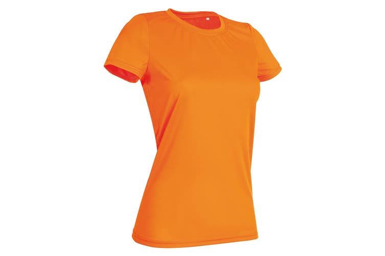 Stedman Womens/Ladies Active Sports Tee (Cyber Orange) (XL)