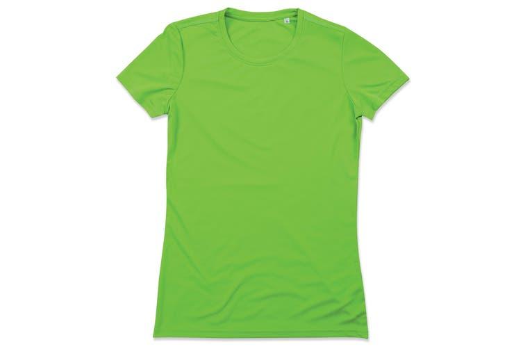 Stedman Womens/Ladies Active Sports Tee (Kiwi Green) (XL)