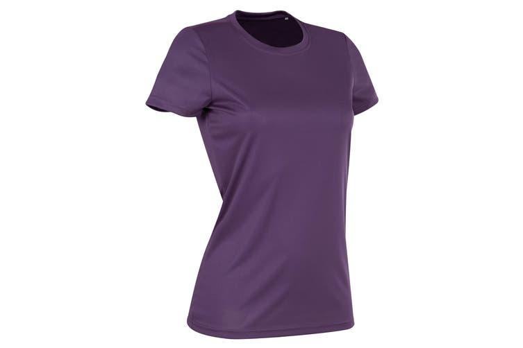 Stedman Womens/Ladies Active Sports Tee (Deep Berry) (XL)