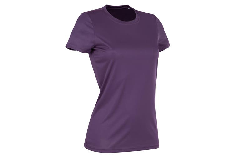 Stedman Womens/Ladies Active Sports Tee (Deep Berry) (S)