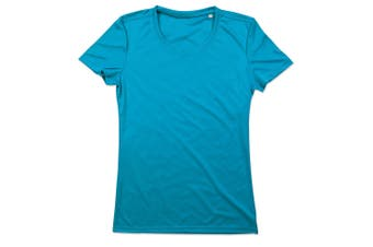 Stedman Womens/Ladies Active Sports Tee (Hawaii Blue) (L)
