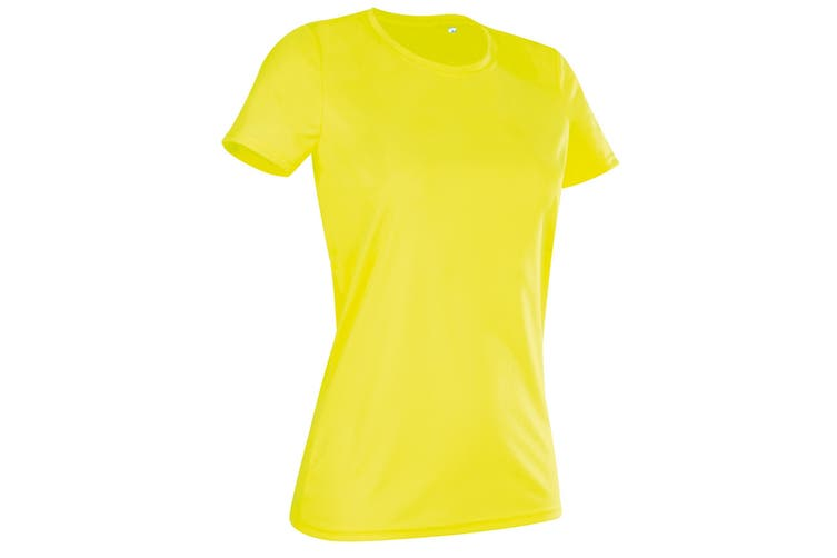 Stedman Womens/Ladies Active Sports Tee (Cyber Yellow) (XL)