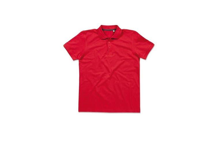 Stedman Stars Mens Harper Cotton Polo (Crimson Red) (S)