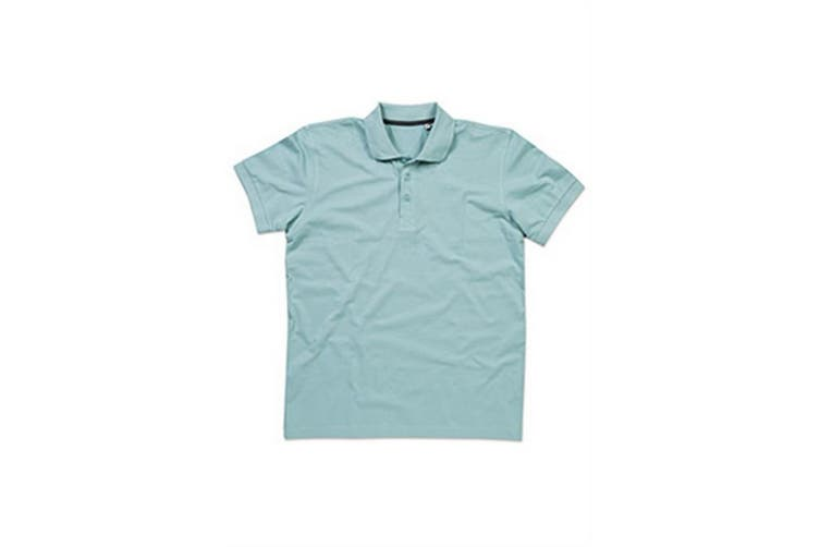 Stedman Stars Mens Harper Cotton Polo (Frosted Blue) (L)