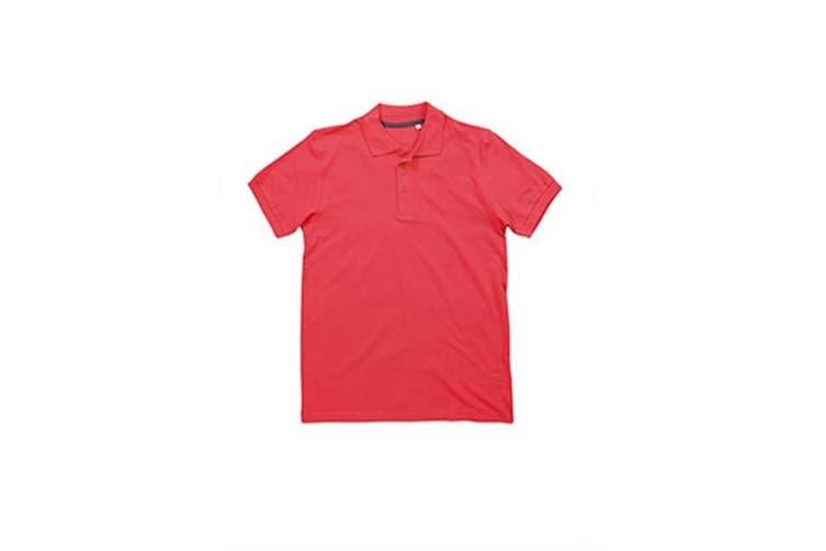 Stedman Stars Mens Harper Cotton Polo (Salmon Pink) (XL)