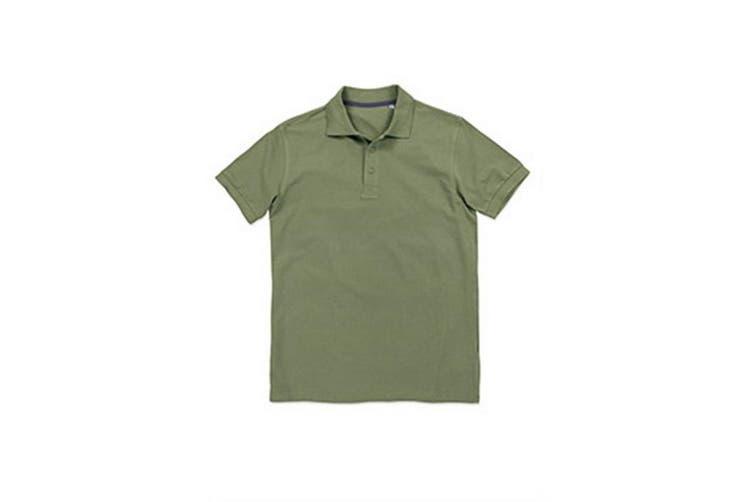Stedman Stars Mens Harper Cotton Polo (Military Green) (M)