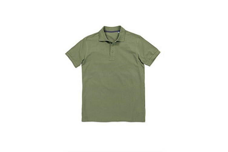 Stedman Stars Mens Harper Cotton Polo (Military Green) (XL)