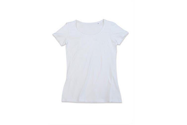Stedman Womens/Ladies Finest Cotton Tee (White) (S)