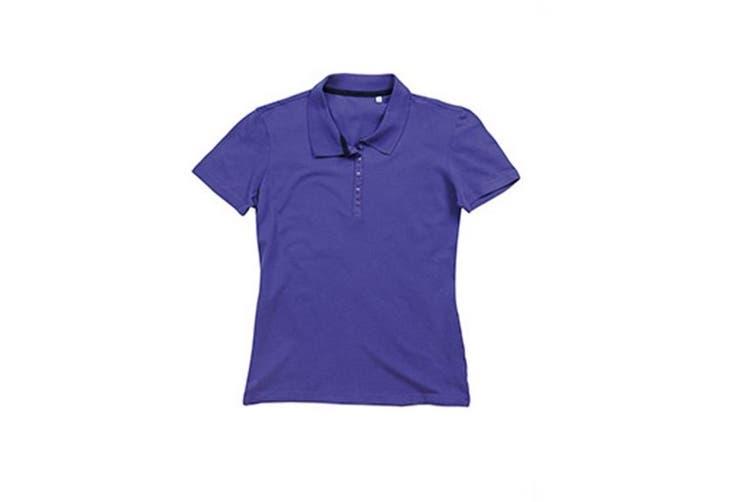 Stedman Stars Womens/Ladies Hanna Cotton Polo (Deep Lilac) (S)