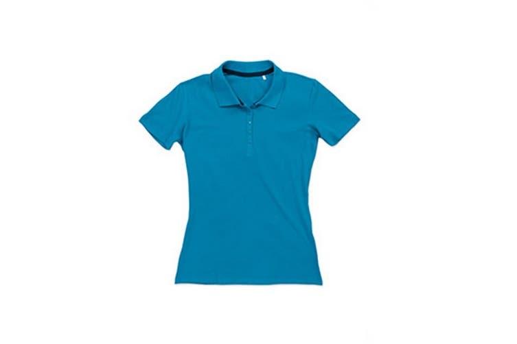 Stedman Stars Womens/Ladies Hanna Cotton Polo (Hawaii Blue) (L)