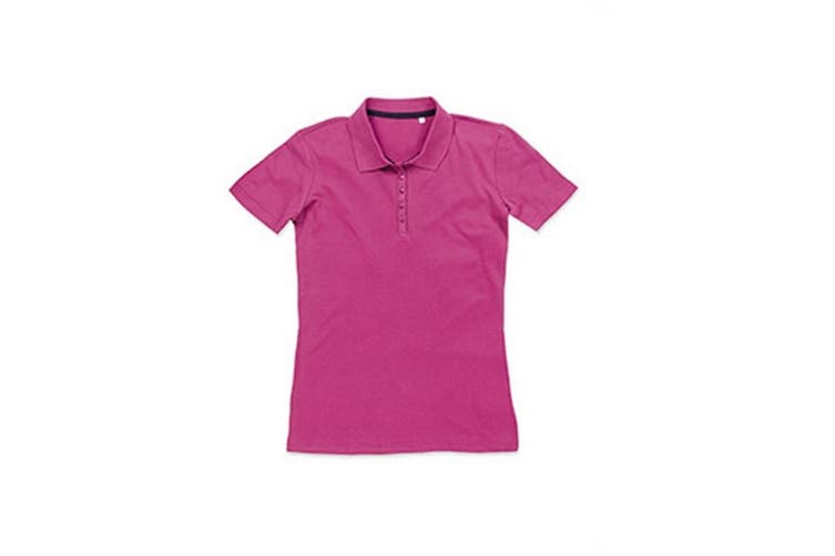 Stedman Stars Womens/Ladies Hanna Cotton Polo (Cupcake Pink) (XL)