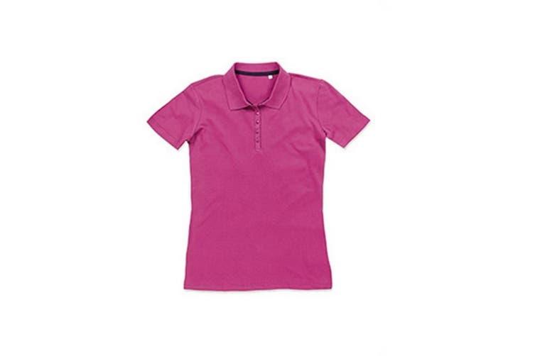 Stedman Stars Womens/Ladies Hanna Cotton Polo (Cupcake Pink) (L)