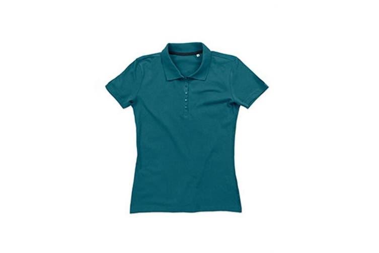 Stedman Stars Womens/Ladies Hanna Cotton Polo (Pacific Blue) (M)