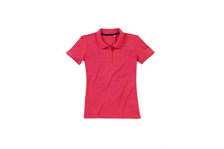 Stedman Stars Womens/Ladies Hanna Cotton Polo (Salmon Pink) (L)